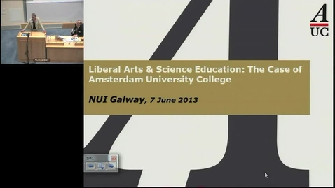 Thumbnail for entry Liberal Arts & Science Education: The Case of Amsterdam University College - Marijk van der Wende