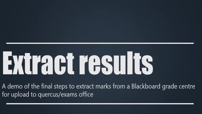 Extract marks for Exams Office