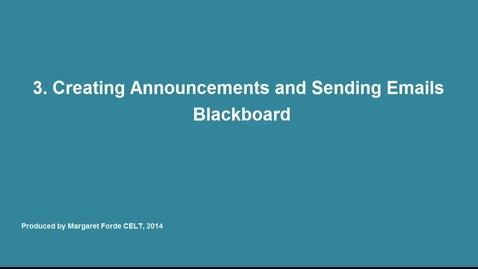 3.  Announcements