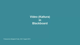Thumbnail for entry Kaltura (Video) in Blackboard