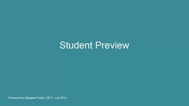 Thumbnail for entry Student Preview