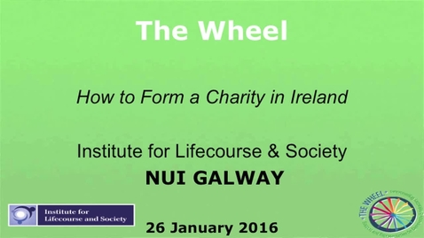 Thumbnail for entry The Wheel - How to Form a Charity in Ireland