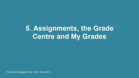 5. Assignments on  Blackboard