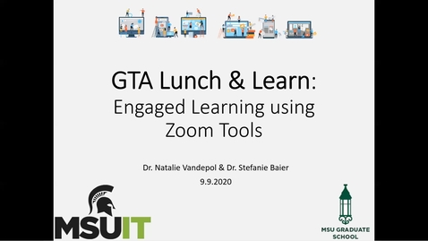 Thumbnail for entry GTA Lunch & Learn - Trimmed