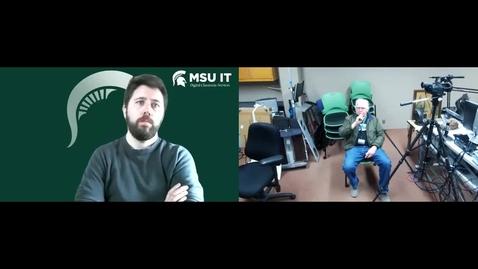 Thumbnail for entry Stephen Elmer's Zoom Meeting