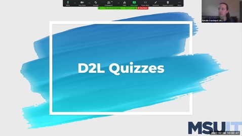 Thumbnail for entry IT Virtual Workshop - Building & Conducting Exams in the D2L Quizzes Tool