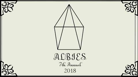 Thumbnail for entry 2018 Albies Awards Show