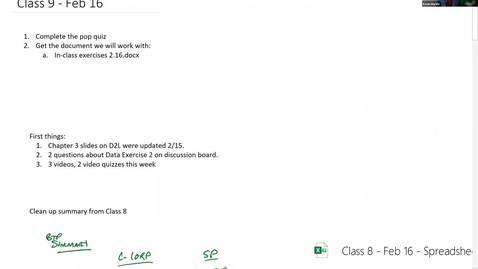 Thumbnail for entry ACC833 Classroom - Feb 16 8:00