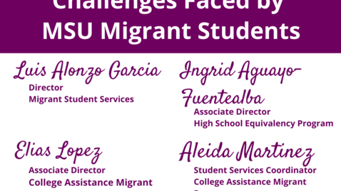 Thumbnail for entry Challenges Faced by Migrant Students  |  WACSS Anti-Racism Insight Series