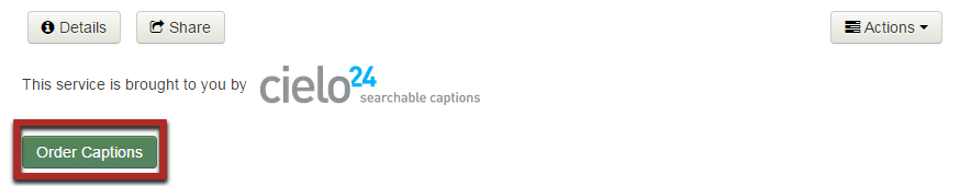 Highlight of the Order Captions button on the caption order form.