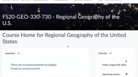 Thumbnail for entry GEO330: Getting Started on Your Assignments