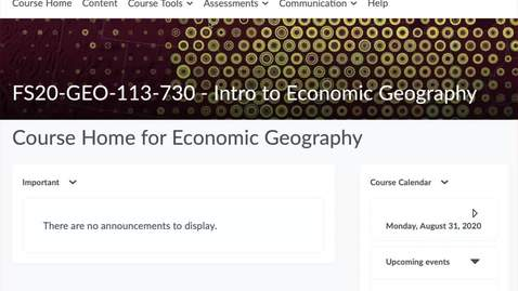 Thumbnail for entry GEO113: Economic Geography Journal - Where to begin