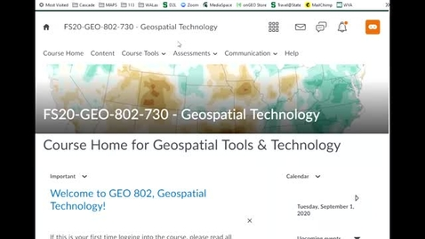 Thumbnail for entry Geo 802-v: Where course materials are located