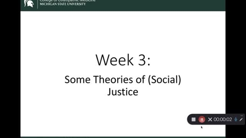 Thumbnail for entry OST 825 Gifford: Wk 3 Some Theories of (Social) Justice
