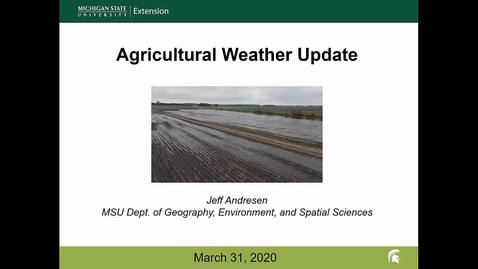 Thumbnail for entry Agricultural weather forecast for March 31, 2020