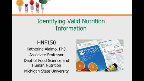 Thumbnail for entry Mini Lecture 1.4 --- Valid Nutrition Info