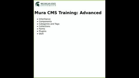 Thumbnail for entry Mura 7 Advanced Training