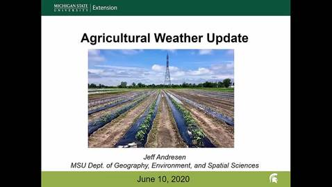 Thumbnail for entry Agricultural weather forecast for June 10, 2020