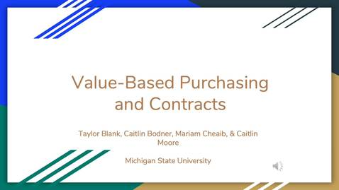 Thumbnail for entry Value-Based Purchasing