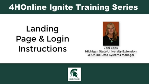 Thumbnail for entry Landing Page and Login Instructions for New Staff