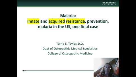 Thumbnail for entry IM618 - Malaria Part 5 - Innate Resistance