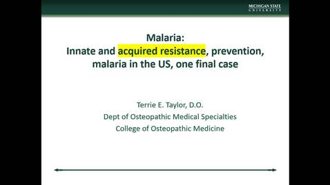 Thumbnail for entry IM618 - Malaria Part 6 - Acquired Resistance