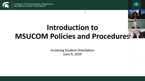 Thumbnail for entry 06.09.2020b Virtual Orientation - Intro to Policies & Procedures at DMC