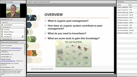 Thumbnail for entry Organic Vegetable Pest Control 2014