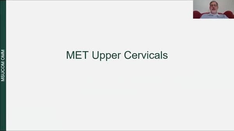 Thumbnail for entry Upper Cervical MET and HVLA Lecture