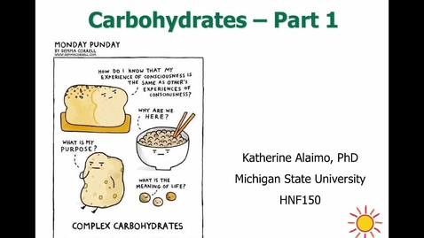 Thumbnail for entry Mini Lecture 2.4 - Carbs Part 1