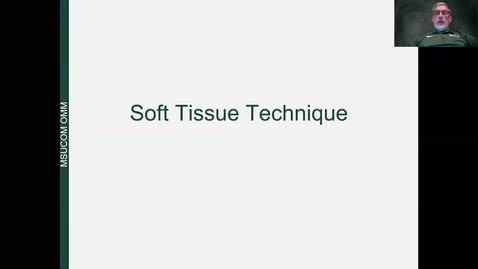 Thumbnail for entry Soft Tissue Lecture