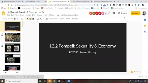 Thumbnail for entry Lecture 12.2  Pompeii: Sexuality & Economy