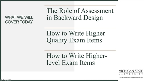 Thumbnail for entry FLC Fall Teaching Town Hall: Higher-quality/Higher-level Exam Questions  (07_15_2020)