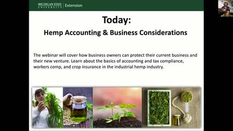 Thumbnail for entry Business Considerations for Industrial Hemp