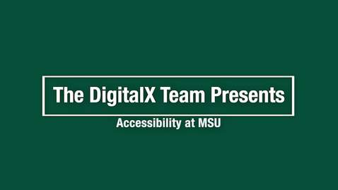 Thumbnail for entry Accessibility at MSU