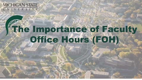 Thumbnail for entry Importance of Faculty Office Hours