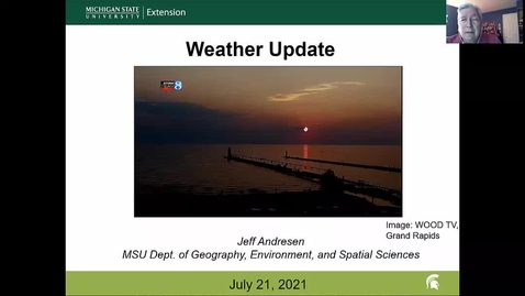 Thumbnail for entry Agricultural weather forecast for July 21, 2021