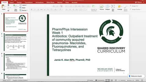 Thumbnail for entry Alan_PharmPhys_antibiotics wk1 2019
