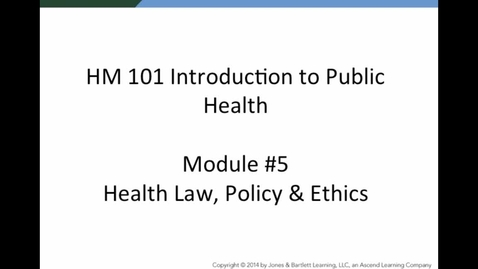 Thumbnail for entry HM 101 Module 5 Powerpoint Lecture