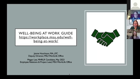 Thumbnail for entry Well-being at Work Guide Kick-off
