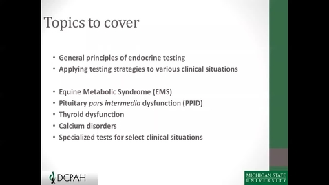 Thumbnail for entry Equine Endocrine Testing, 4.27.2016
