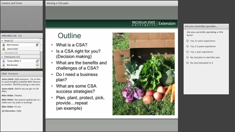 Thumbnail for entry CSA farming (Community Supported Agricutlure)