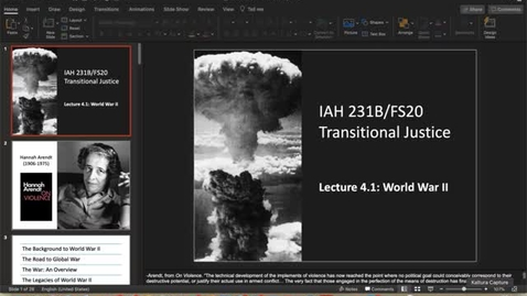 Thumbnail for entry Lecture 4.1 - part 1