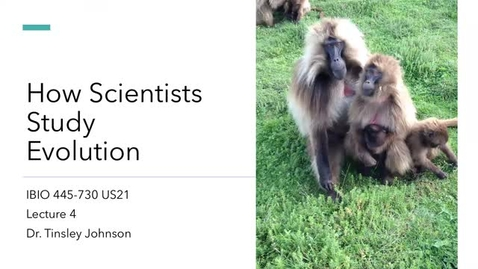 Thumbnail for entry Lecture 4_How Scientists Study Evolution_Week 2