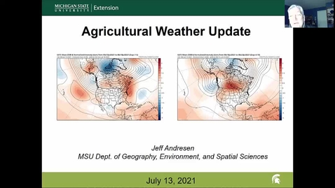 Thumbnail for entry Agricultural weather forecast for July 13, 2021