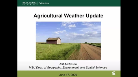 Thumbnail for entry Agricultural weather forecast for June 17, 2020