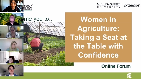 Thumbnail for entry Women in ag panel