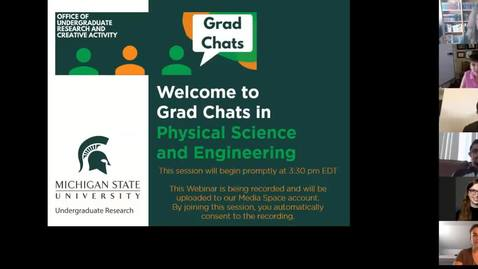 Thumbnail for entry Grad Chats in the Physical Sciences and Engineering
