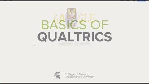 Thumbnail for entry CON Basics of Qualtrics