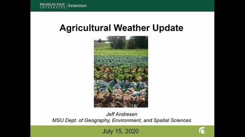 Thumbnail for entry Agricultural weather forecast for July 15, 2020
